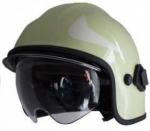 Zásahová přilba Calisia typ AK/10 včetně brýlí - fotoluminiscenční - čirý štít