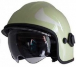 Zásahová přilba Calisia typ AK/10 včetně brýlí - fotoluminiscenční - zlatý štít