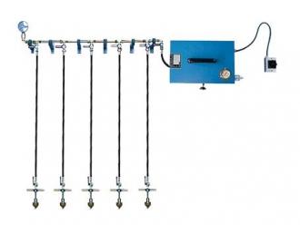 Nízkotlaké zkušební zařízení s 5 přípojkami, model ND-W-5