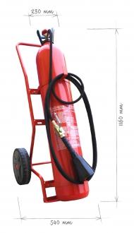 Pojízdný  hasicí přístroj CO2 30 kg