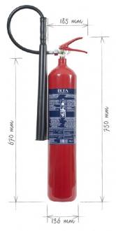 Přenosný hasicí přístroj CO2 5 kg - K5BETA-Z