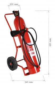 Pojízdný hasicí přístroj CO2 20 kg