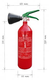 Přenosný hasicí přístroj Co2 2kg - antimagnetický