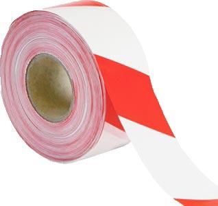 Výstražná samolepící páska - bílá / červená