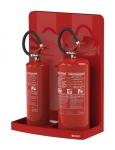 Dvojitý stojan pro hasicí přístroje